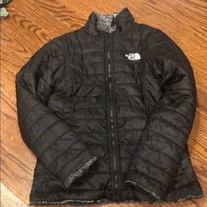 Girls reversible North Face jacket